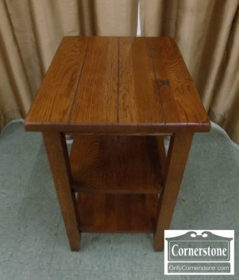 6863-17 - Oak Rustic End Table