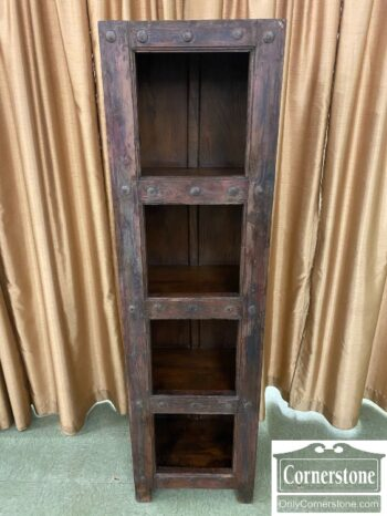 6868-8 - Tall Rustic 4 Shelf Open Cabinet
