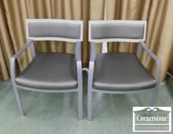 6928-1 - Pair of Gun Locke Arm Chairs