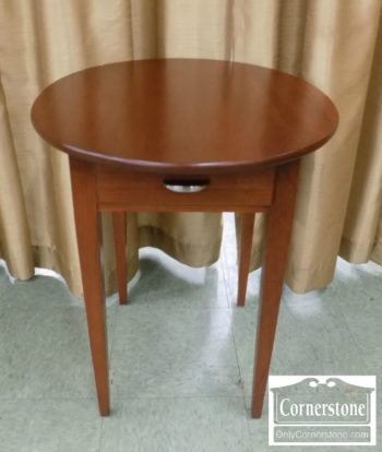 6937-2 - Leister's Solid Cherry Oval End Table with Drawer