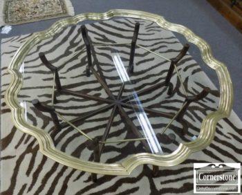 6940-1 - Baker Brass & Glass Coffee Table