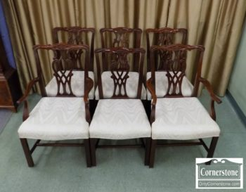 6942-1 - Set of 6 Hickory Solid Mah Chipp Chairs