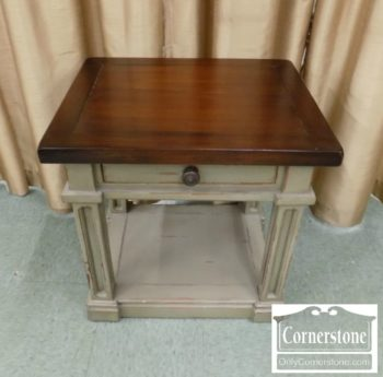6943-11 - Green Painted End Table