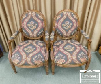 6943-9 - Pair of Minton Spidell Uph Arm Chairs