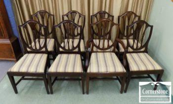 6949-2 - Set of 8 Potthast Sol Mah Shieldback Chairs