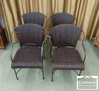 6967-1 - 4 LeatherMetal Chairs