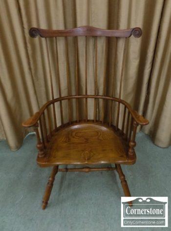 6969-8 - Oak Comback Windsor Arm Chair