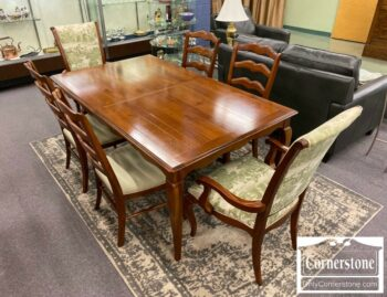 7000-1021-EA Sol Cher Fr Cntry Table 6 Chairs No Leaf