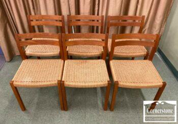 7000-1027-6 JL Moller Teak Danish Modern Chairs