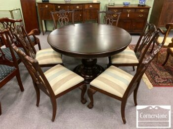 7000-1046-EA Mah Table w 1 Leaf 6 Chairs