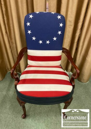 7000-1086-Attr to Hickory Chair Flag Chair