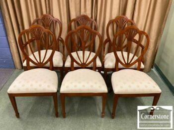 7000-1089-6 Ethan Allen Cherry Shieldback Chairs
