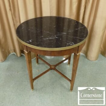 7000-1099-Baker Round Marble Top Table