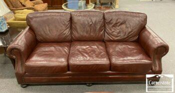 7000-1120-Burgundy Leather Sofa