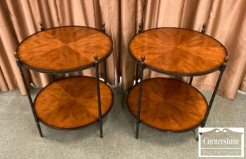 7000-1127-Pair of Round End Tables
