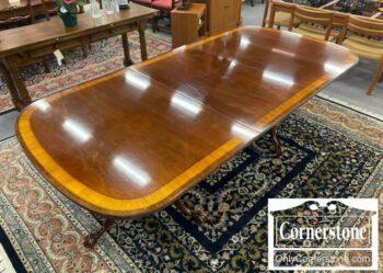7000-1167-EA Mah Banded Table 2 Leaves