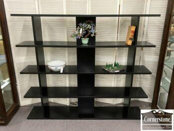 7000-1195-Black Open Bookcase