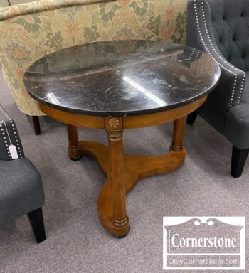 7000-1196 - Baker Round Marble Top Stand