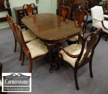 7000-124 - Solid Cherry Table with 3 Leaves and 6 Chairs
