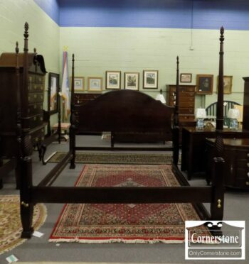7000-141-Mahogany King Poster Bed