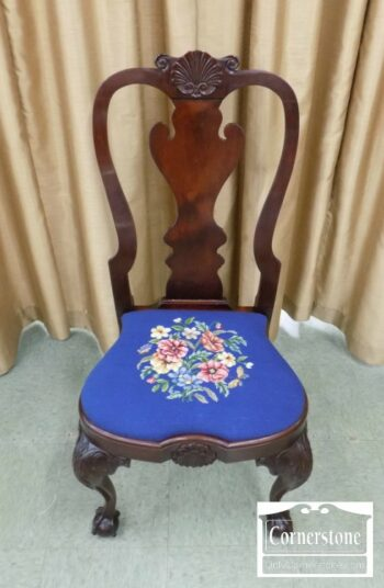 7000-173 - Potthast Sol Mah Chipp Chair with Needlept Cush