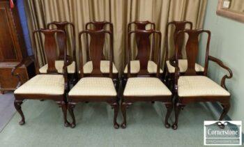 7000-180 - Set of 8 HH Sol Mah QA Dining Chairs