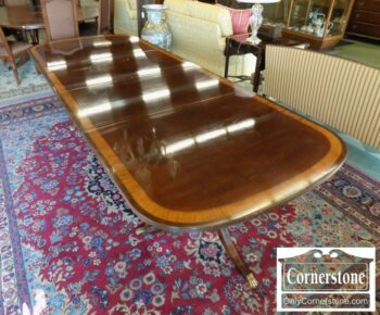 7000-209 - Mahogany Banded Table with 2 Leaves