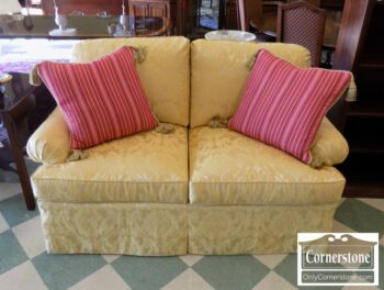7000-222 - Hickory Chair Yellow Uph Loveseat