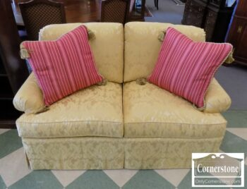 7000-223 - Hickory Chair Yellow Uph Loveseat