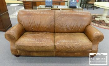 7000-259 - Made in Italy Leather Sofa