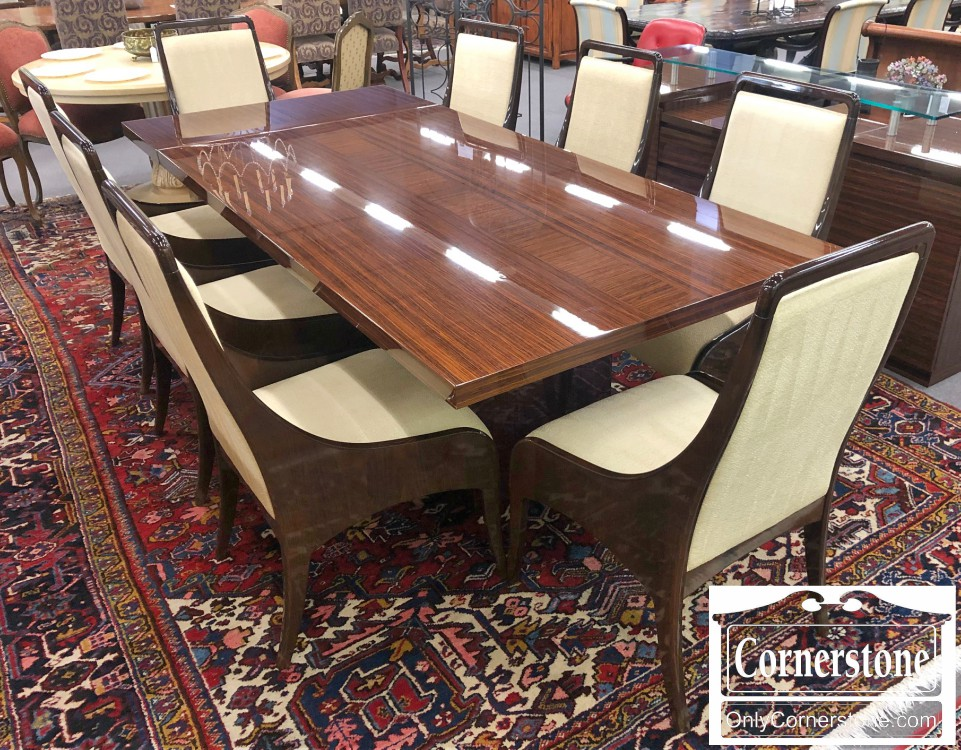 Excelsior Italy Modern Rosewood Table With 2 Leaves And 8 Chairs