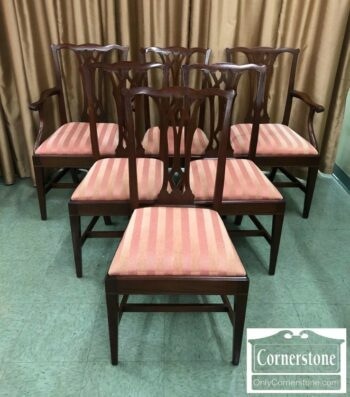 7000-366 - 6 Potthast Mah Chipp Chairs with Inlay
