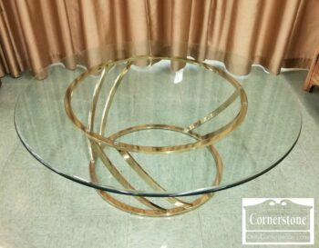 7000-377 - Round Glass Top Coffee Table