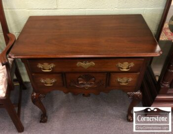 Treasure House Solid Mahogany Chippendale Lowboy
