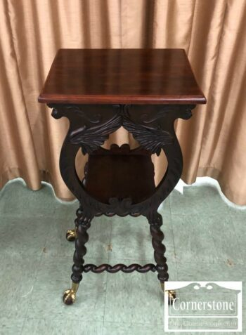7000-461 - Mahogany Victorian Style Carved Pedestal