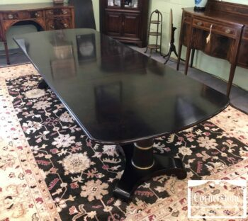 7000-466 - Baker Mah Ped Table with 3 Leaves