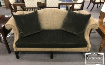 7000-474 - Hickory Chair Chipp Collage Camelback Short Sofa