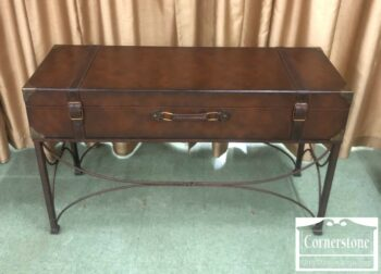 7000-601 - Leather Luggage Style Sofa Table