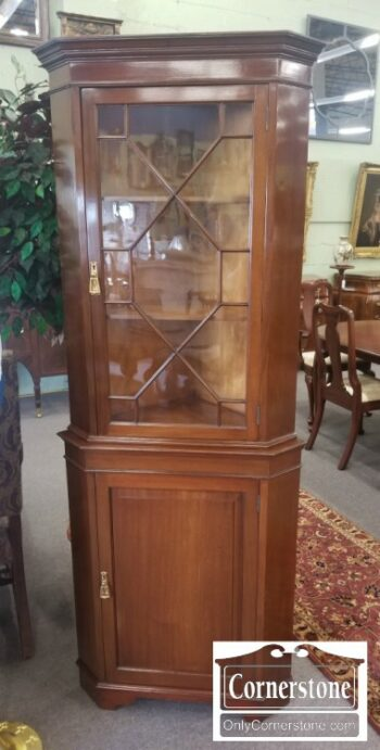7000-635 - Small English Mahogany Corner Cabinet