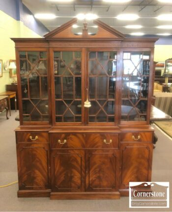 7000-702 - Cabinet Made Mahogany Chippendale Breakfront