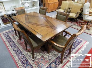 7000-74 - Table with 2 Leaves and 6 Chairs