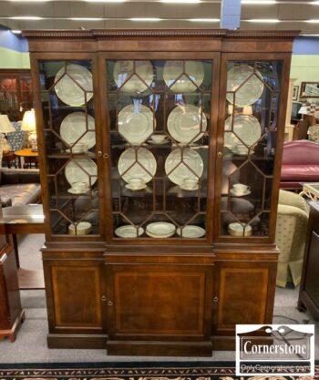 7000-746-Mahogany China Cabinet Bookcase