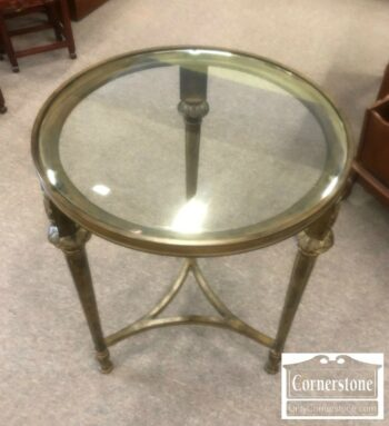 7000-822-Round Glass Top End Table