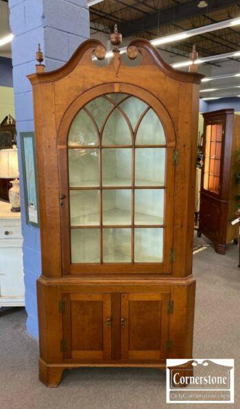 7000-858-Antique Corner Cabinet