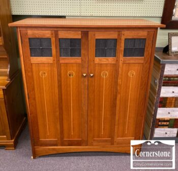 7000-906-Stickley Sol Cher Inlaid Cabinet