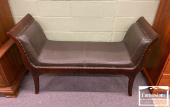 7000-952-Leather Bench