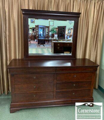 7010-14 - Durham Cherry Dresser w Mirror