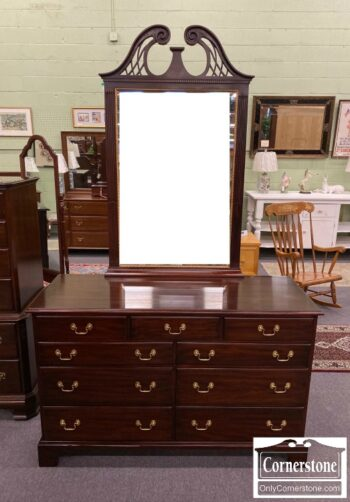 7032-2 - Henkel Harris Sol Mah Chipp Dresser w Mirror