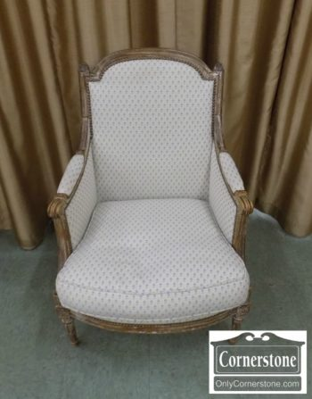 7033-2 - French Antique Bergere Chair
