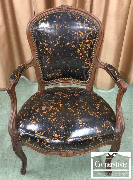 French Style Arm Chair With Contemporary Upholstery